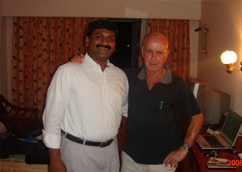 Ravichandran with Giora